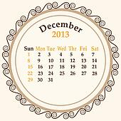 December calender 2013