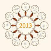 New Year calender 2013