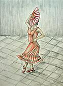 Flamingo dancer