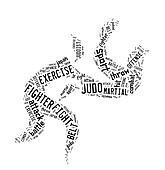 Judo pictogram on white background