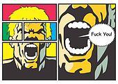 Man throwing a curse - Comic