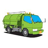 garbage truck - Hand Drawn