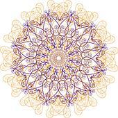 Ornamental round lace, circle ornament.
