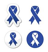 Navy blue ribbon - child abuse