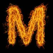 Flaming Letter M