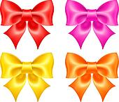 Collection of colored bows