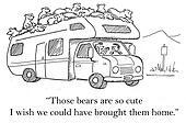 The bears are so cute on trailer