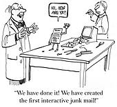 Interactive mailer is the first in the world.
