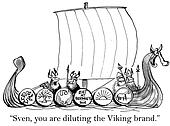 Boss Viking did not approve of an ad on ship