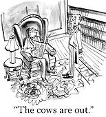 A rich man is informed about his cows