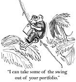 Tarzan has less swing with the consultant