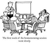 The executives cannot stay awake when brainstorming