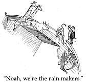 The business deal makers meet Noah
