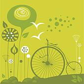 Penny Farthing Background