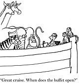 Traveler on Noah's Ark thinks it is cruise