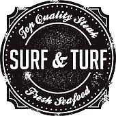 Classic Surf and Turf Menu Stamp