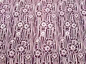 Floral brown batik background from Yogyakarta, Indonesia