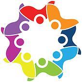 Teamwork unity logo vector