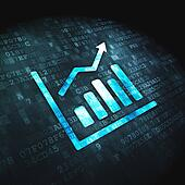 Finance concept: Growth Graph on digital background