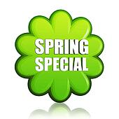 spring special green flower label