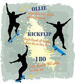 3 styles Skate board