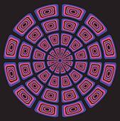 Circular psychedelic background