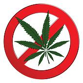 Sign forbidden circle drug cannabis