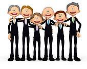 3D Group of business men