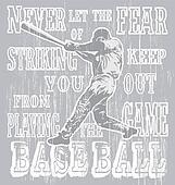 baseball fear strike