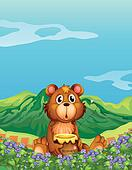 A bear at the flower plantation
