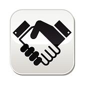 Handshake vector button - agreement