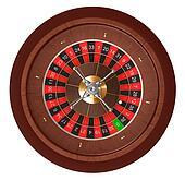 Casino roulette. Top view.