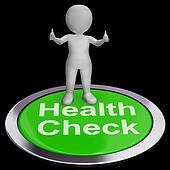 Health Check Button Shows Medical Condition Examinations
