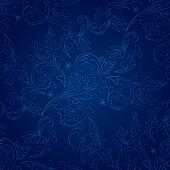 Vintage floral seamless pattern on blue