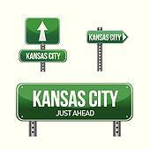 kansas city road sign