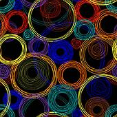 Seamless abstract pattern with colored circles
