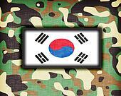 Amy camouflage uniform, South Korea