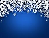 Snowflakes on shiny background