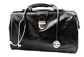 Doctor's bag with stethoscope