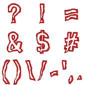Red symbols