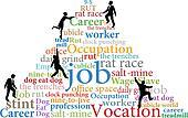 Business people climb job rat race work
