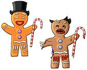 Good and Evil gingerbread men