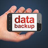 Information concept: Data Backup on smartphone