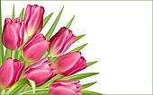 Gift frame with pink tulips