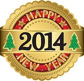 Happy new 2014 year golden label, i
