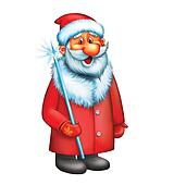 Santa Claus. Isolated illustration on white background.