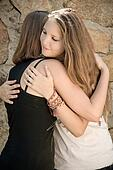 Young Girls Hug