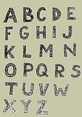 Woodcut Font Set