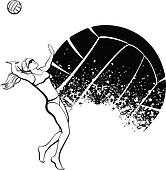 Female Beach Volleyball Player with