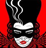 image of an dame in mask